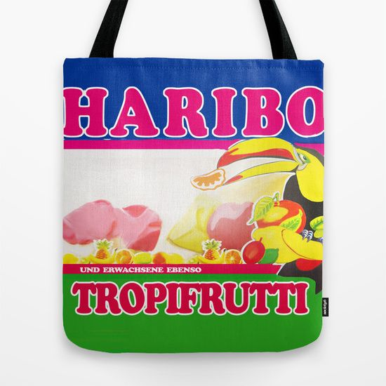 HARIBO - TROPIFRUTTI   An illustrated and designed tablet cases, pillow and tote bags of HARIBO - Tropifrutti drawn digitally in Photoshop.