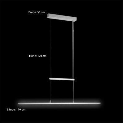 LICHT-TREND / LED Zug-Hängelampe / 19W LED dimmbar / 110cm Bild12