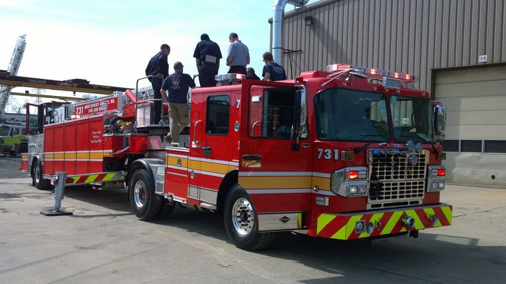 Final Inspection Today Of New T731 New trucks, Fire