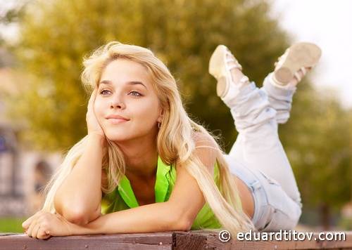 Lovely young girl relaxing