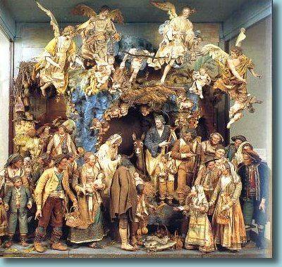 Nativity scene in Naples, Italy