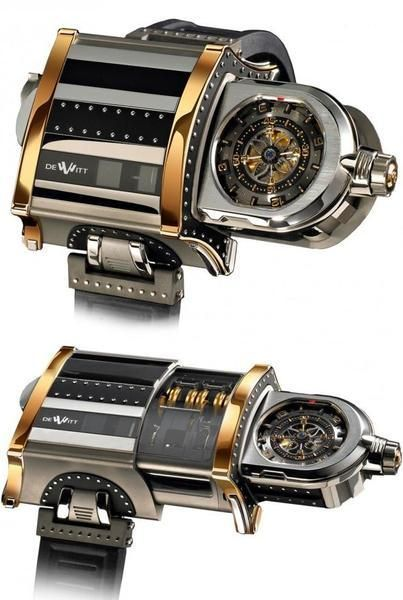 I found Ultimate in Steampunk Accessories: The DeWitt WX-1 Telescoping Wristwatch on Wish, check it out!