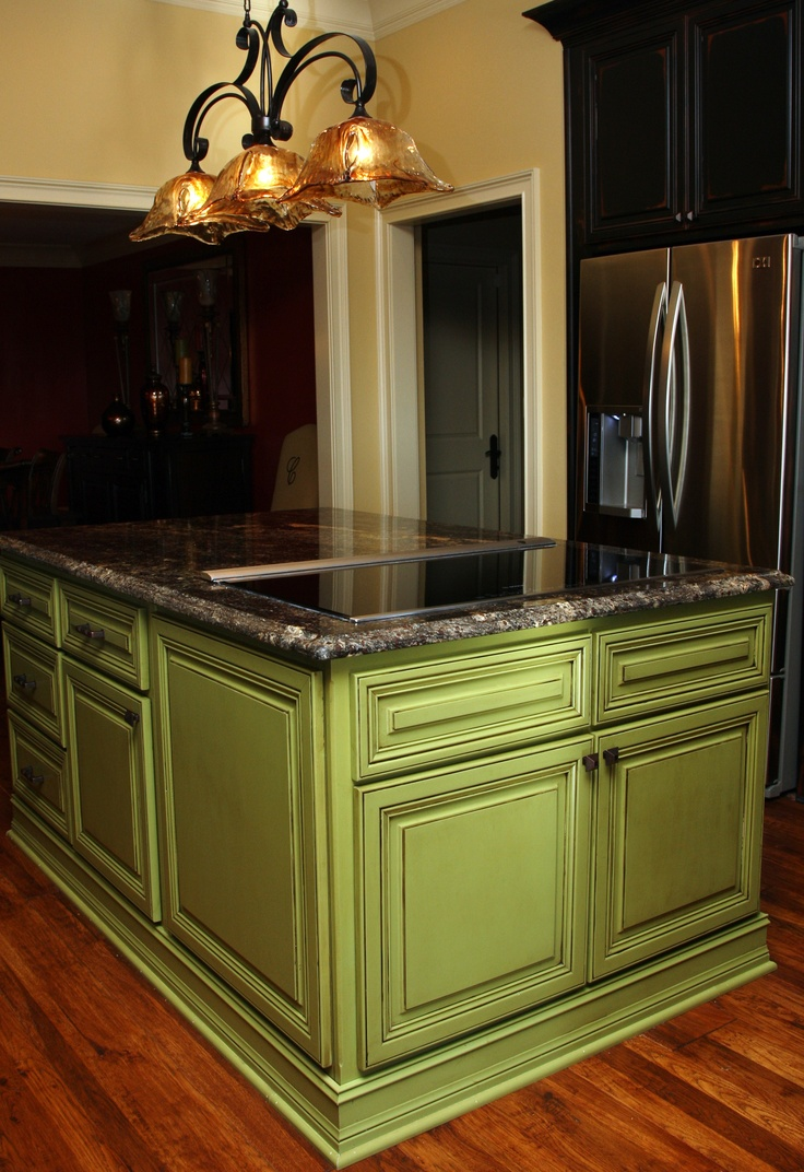 27 Best Images About Kitchen Island Colors On Pinterest Green Kitchen Paint Green Colors And