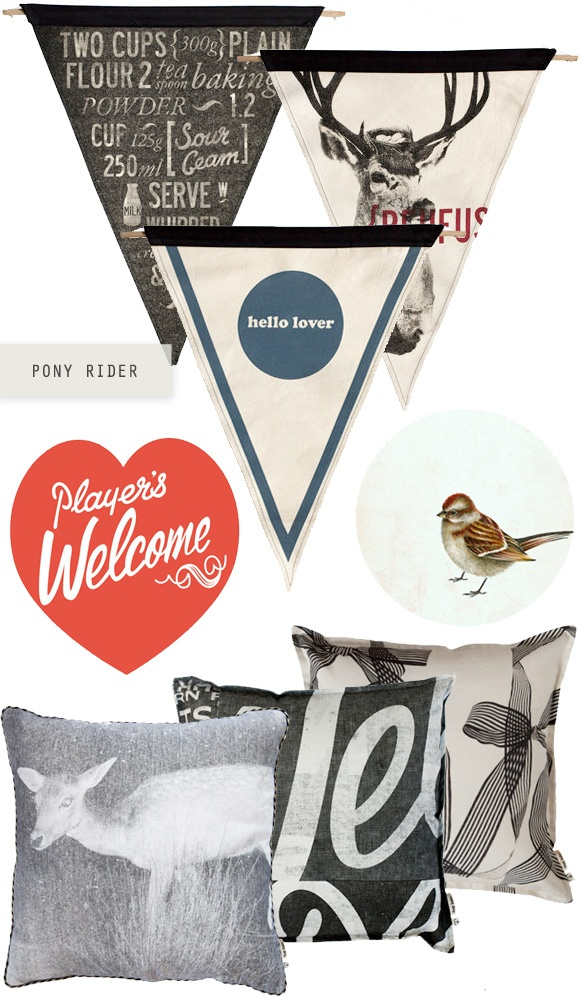 In Good Company: PonyRider - Home - Creature Comforts - daily inspiration, style, diy projects + freebies