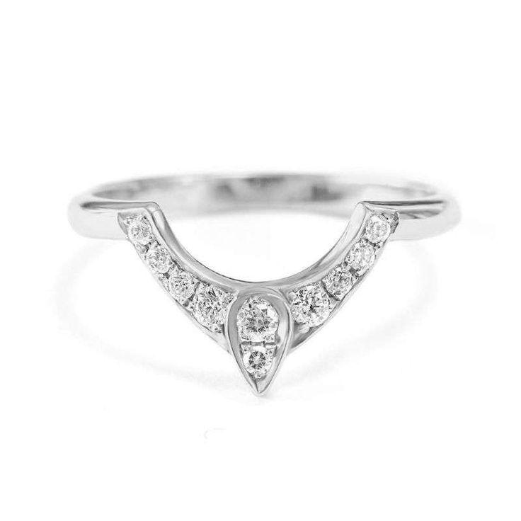 Third Eye Wedding Ring, Diamond Pear Engagement Ring, Gold Engagement Ring, Diamond Side Band, Gold Band Ring, Women Wedding Jewelry Gift by SillyShinyDiamonds on Etsy https://www.etsy.com/listing/462658331/third-eye-wedding-ring-diamond-pear