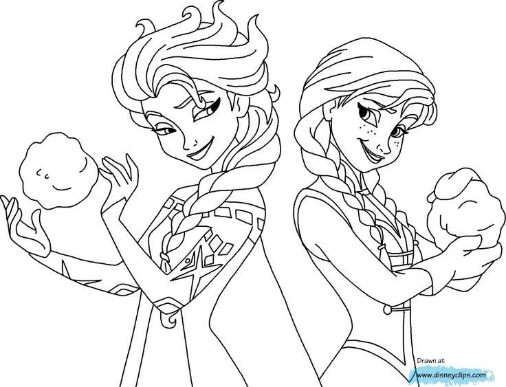 Mejores 47 imágenes de Frozen Coloring en Pinterest | Páginas para ...