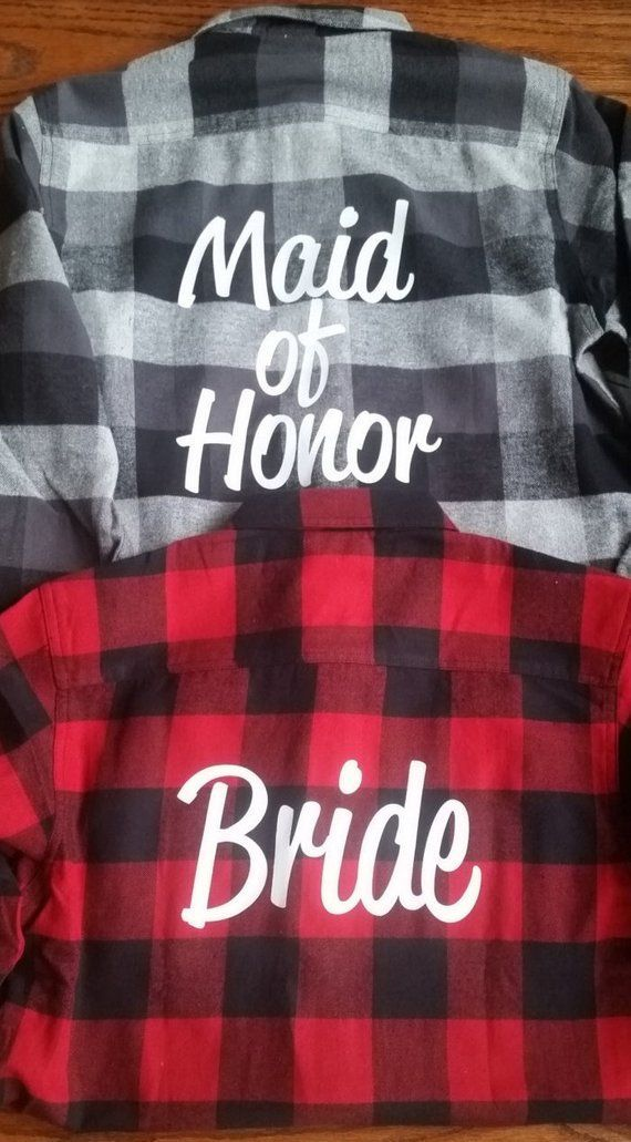 Bridal Party Flannels Bridesmaid Flannels Wedding Flannels | Etsy