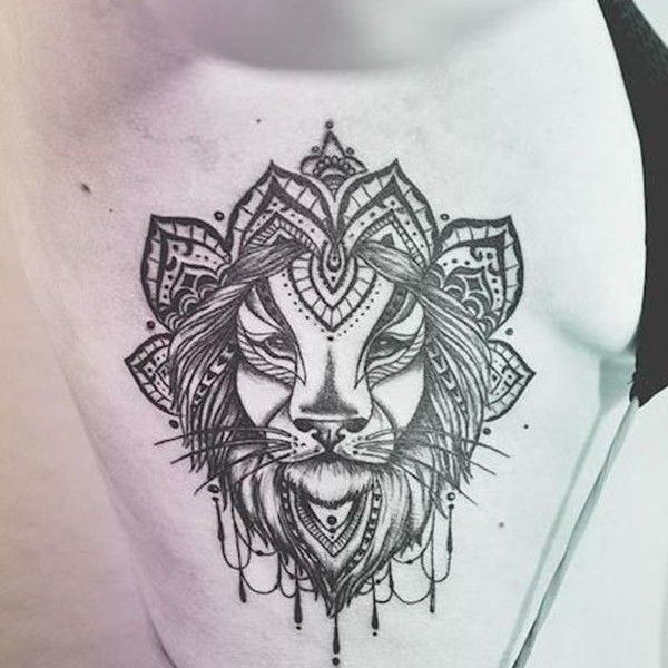 Lion, traditional, body tattoo on TattooChief.com
