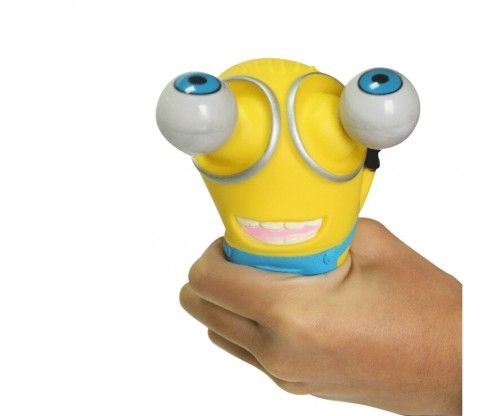 Gumiból készült minyon avagy minion stresszlabda, aminek skillje, hogy nyomásra gúvadnak a szemei! Remek ajándék!