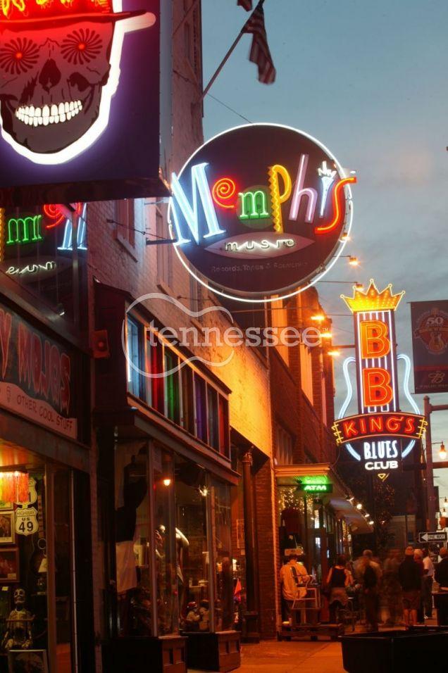 Beale Street, Memphis   Tennessee Department of Tourist Development News Bureau