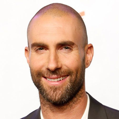 Adam Levine Haircut - Shaved Head