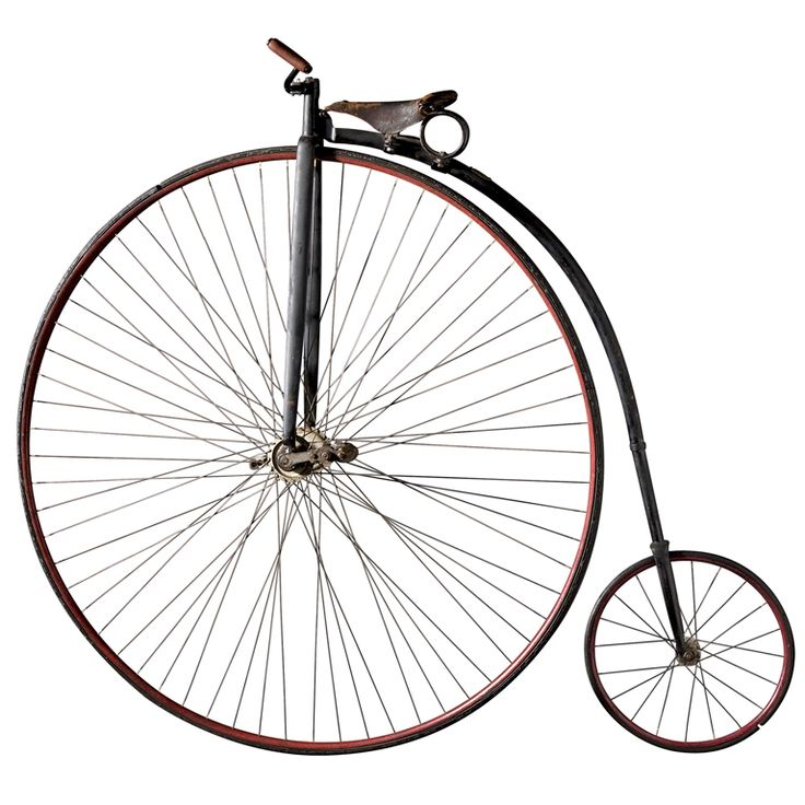 American High Wheeler Bicycle  USA  1885  Metal, rubber and original paint.