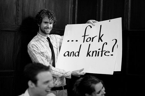 Cue guests to participate in your ceremony with wedding cue cards | Offbeat Bride