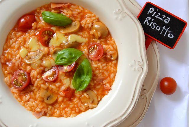 Risotto de Pizza prosciutto, cherry e funghi
