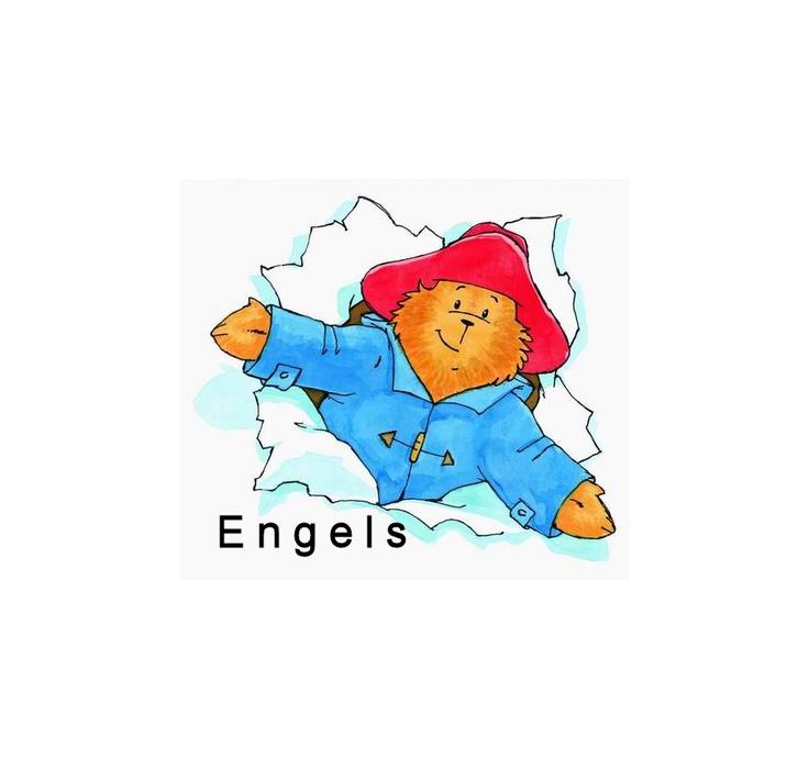 Beertje Paddington als symbool bij de Engels met kleuters