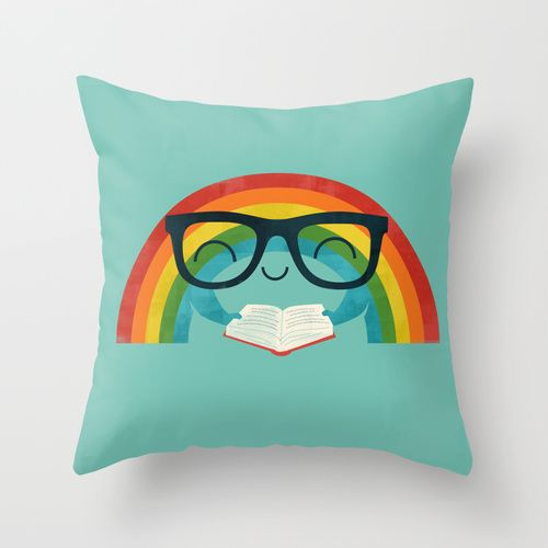 Brainbow Throw Pillow Rainbow Bedroomrainbow