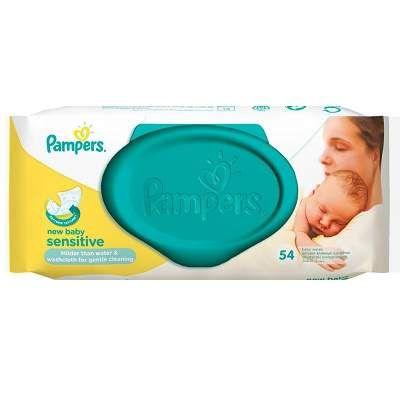 Servetele umede New Baby Sensitive, 54 bucati, Pampers [4015400686101] - articole copii recomandate pentru Servetele nou nascuti