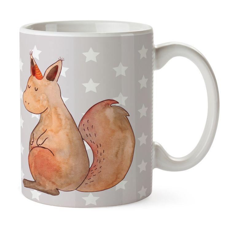 Tasse Einhörnchen Glaube aus Keramik  Weiß - Das Original von Mr. & Mrs. Panda.  Eine wunderschöne spülmaschinenfeste Keramiktasse (bis zu 2000 Waschgänge!!!) aus dem Hause Mr. & Mrs. Panda, liebevoll verziert mit handentworfenen Sprüchen, Motiven und Zeichnungen. Unsere Tassen sind immer ein besonders liebevolles und einzigartiges Geschenk. Jede Tasse wird von Mrs. Panda entworfen und in liebevoller Arbeit in unserer Manufaktur in Norddeutschland gefertigt.     Über unser Motiv Einhörnchen…