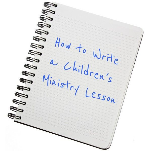 Video workshop about writing your own Bible lessons for children.