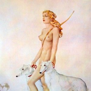 Alberto Vargas- Diana  Extremely Rare Limited Edition Artist's Proof  Hand Signed and Numbered by Alberto Vargas