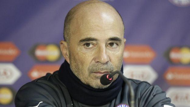 Perú vs. Chile: Jorge Sampaoli y su análisis antes de la semifinal. June 28, 2015.