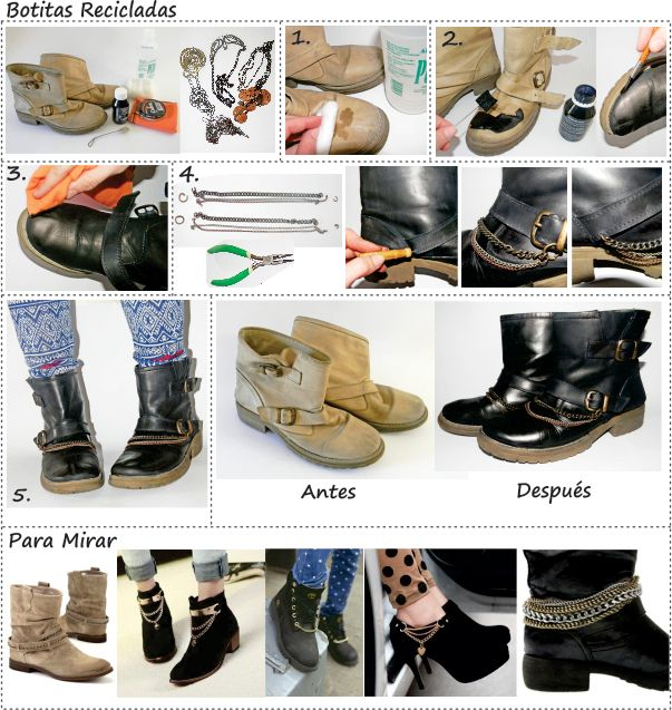 Reciclando botas // boots // DIY