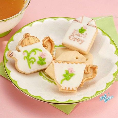 3 découpoirs éjecteur Tea Time Pavoni
