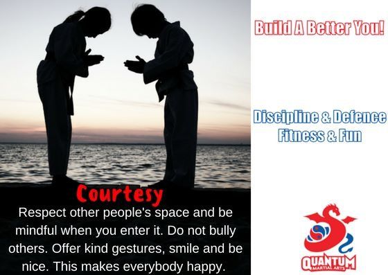 courtesy - #respect other people   do not #bully others