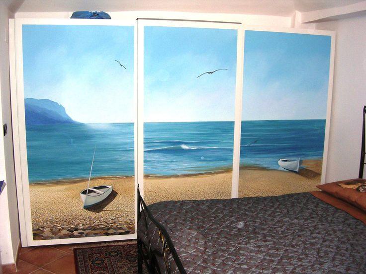 Dipinto su ante scorrevoli armadio