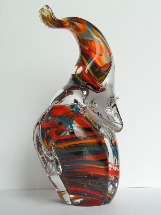 Elephant from Mdina Glass
