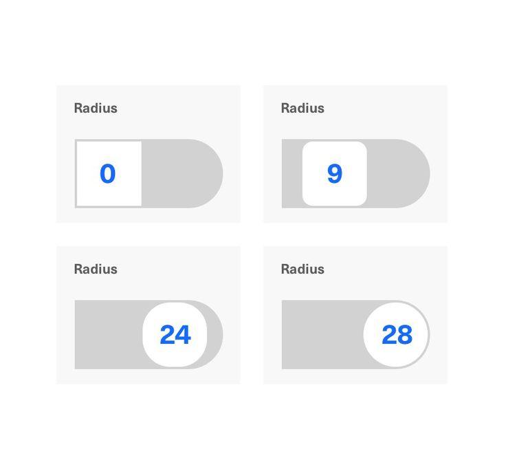 Adjustment of corner radius by Rm Design Lab