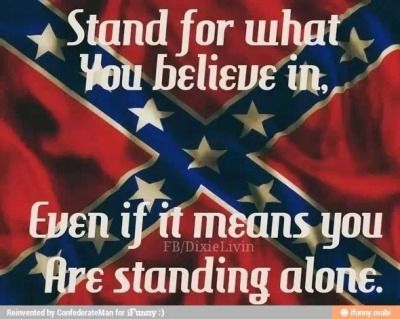 Stand for what you believe in, even if it means standing alone!  If you don't like looking at a rebel flag, go somewhere else! rebel flag | Tumblr