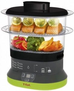T-fal Balanced Living Compact 4-Quart 2-Tier Electric Food Steamer