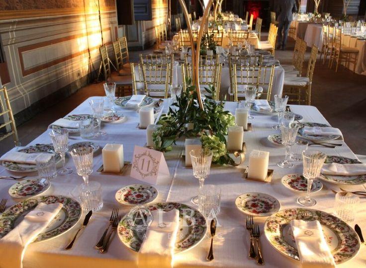 Mise en place luxury chic per un matrimonio da sogno al Castello.
