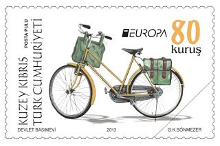 "europa stamps: Cyprus (Turkish post) 2013 - Europa 2013 ""The postman van""  celebrating PostEuropa's 20th anniversary - 1993-2013"