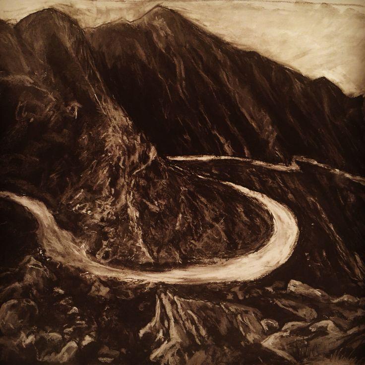 Swartberg Pass, winding dirt road