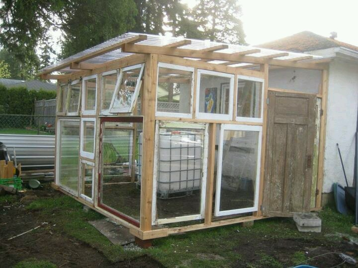 how to build a greenhouse from old windows and doors