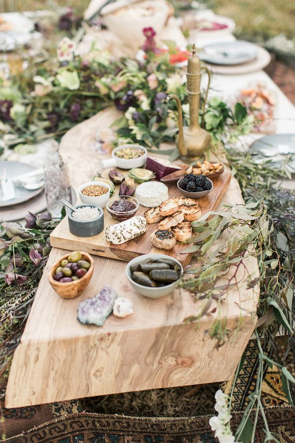 organic wedding food - photo by Lauren Fair Photography