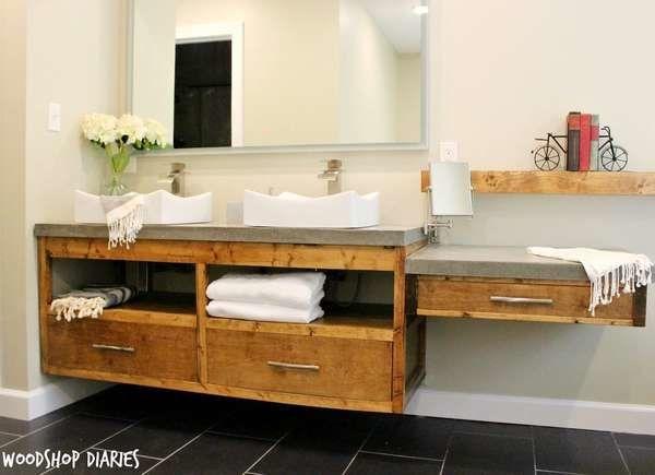 Make Your Own Vanity: 12 Inventive Bathroom Rehabs | Floating