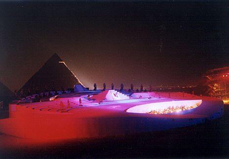 https://flic.kr/p/5VqegU | aida2002-1big | Opera Aida under the Pyramids.2003 Cairo Opera House&Mizalat for Arts Production. Costume design: Nuria Carrasco Keops Pyramid as backstage.