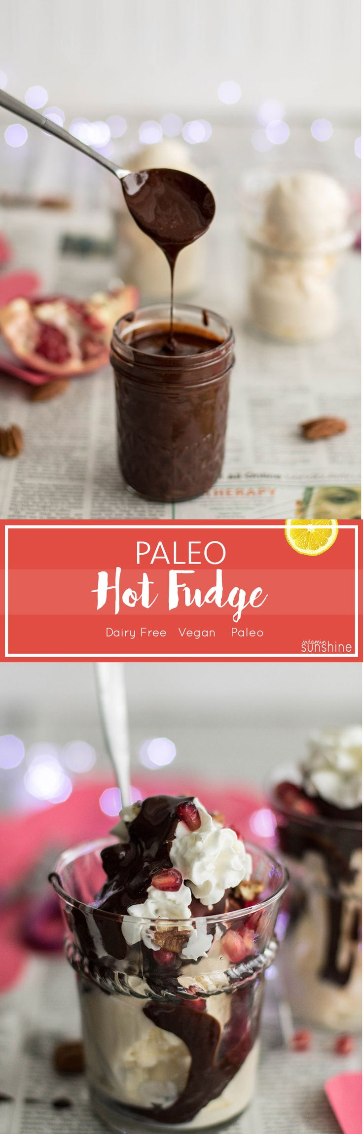 Healthy Hot Fudge / Indulge your Valentine with this creamy and rich (vegan & Paleo!) hot fudge. We love it over frozen yogurt.