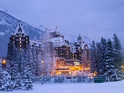 the very majestic Banff Springs Hotel, Alberta, Canada, a print e19.90