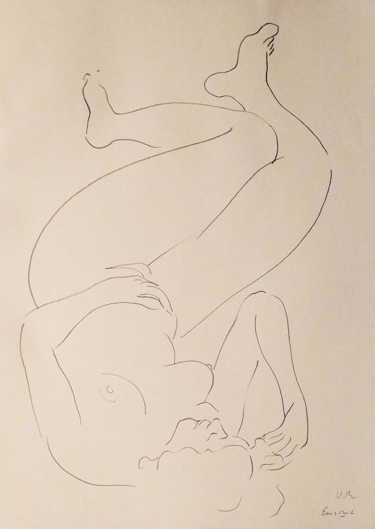 "Nude Figure II, crayon on cream - colored paper, 24"" x 19"", $1,800, http://transformgallery.com/wayne-ensrud/"