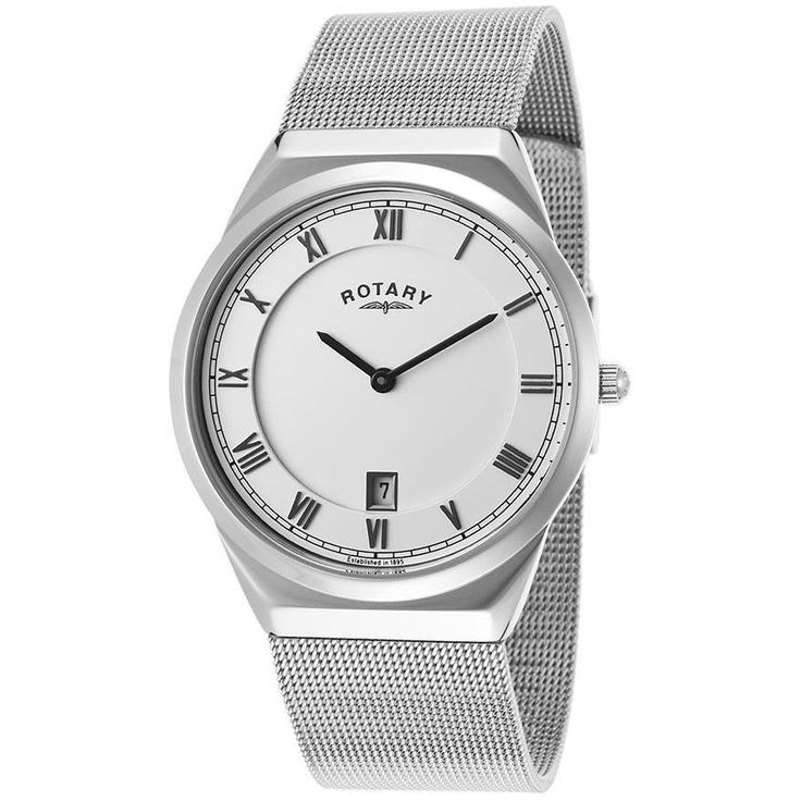Rotary Men's Stainless Steel Watch with White Dial - ROTARY-GB02609-21