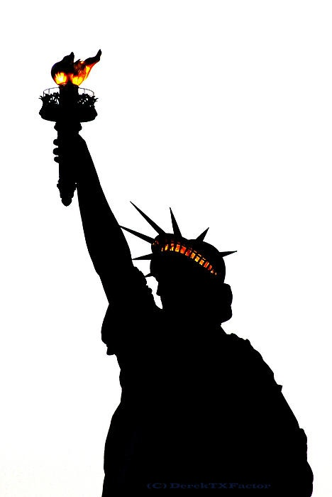 Statue Of Libery-silhouette, by Derektxfactor
