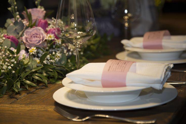 Wedding menu and table by kreativnimatka.cz