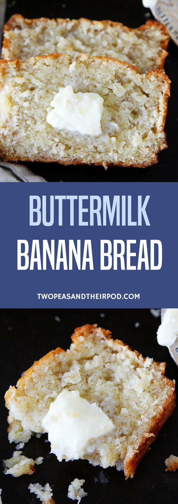 This Easy Buttermilk Banana Bread Recipe Always Gets Rave Reviews! Some Say It Is The BEST Banana Bread Recipe Out There.