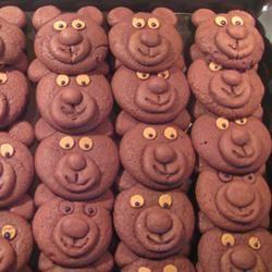 Chocolate Teddy Bear Cookies Allrecipes.com