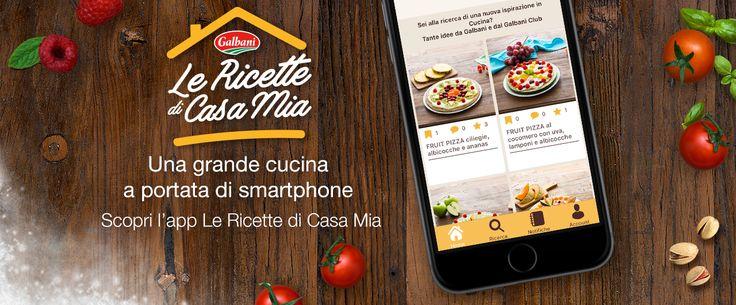 Scopri l'elenco delle ricette Galbani dalla nuovissima App di Galbani, In Cucina Guidi Tu!