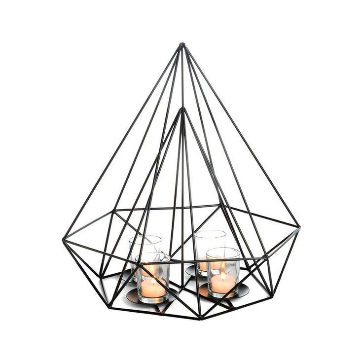 Dekoobjekt Teelichthalter schwarz ca D:38 x H:42 cm